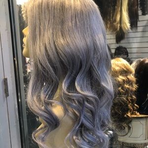 Accessories - Human hair Wig Fulllace Silver grey ice blonde Wig